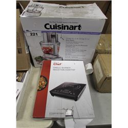 CUISINART ELEMENTAL 13-CUP FOOD PROCESSOR & MASTER CHEF SINGLE BURNER INDUCTION COOKTOP