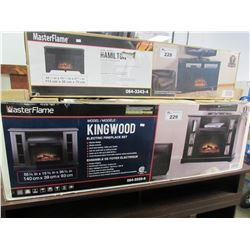 MASTERFLAME KINGWOOD ELECTRIC FIREPLACE SET