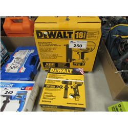 "DEWALT 18 GAUGE HEAVY DUTY XRP 5/8""-2"" BRAD NAILER KIT & DEWALT 1/2"" BRUSHED 3-SPEED HAMMER DRILL"