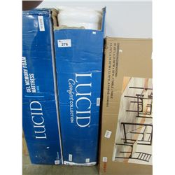 LUCID QUEEN COMFORT COLLECTION MATTRESS