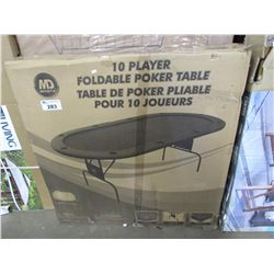 10-PLAYER FOLDABLE POKER TABLE