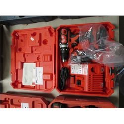"MILWAUKEE 1/2"" DRILL/DRIVER, BATTERY, CHARGER & CASE"