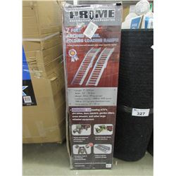 PRIME AUTOMOTIVE 7' ARCHED STEEL FOLDING LOADING RAMPS