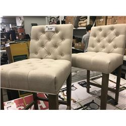 2 BUTTON BACK DINING CHAIRS