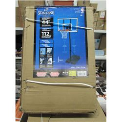 "SPALDING PORTABLE BASKETBALL SYSTEM 44"" BACKBOARD"