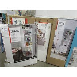 CANVAS ELEVYN 5-SHELF BOOKCASE, CANVAS COPENHAGEN BOOKCASE, CANVAS 3-DRAWER CABINET