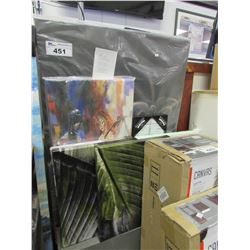 LTO OF ASSORTED CANVAS PHOTOS