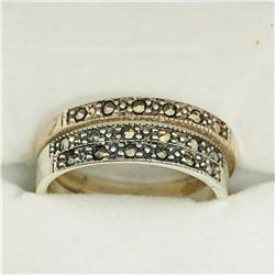 SILVER MARCASITE  SET OF 3 RINGS