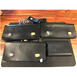 4 BIKER STYLE WALLETS WITH CHAIN FOB