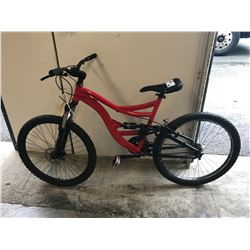 RED (UNKNOWN) MOUNTAIN BIKE