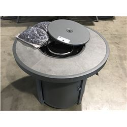 OUTDOOR ROUND PROPANE FIRE PIT TABLE