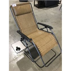 OUTDOOR PATIO ZERO GRAVITY LOUNGE CHAIR