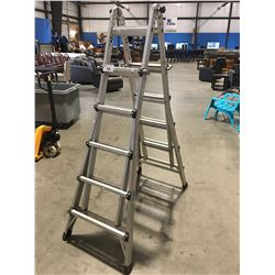 INDUSTRIAL LITE ALUMINUM COMBINATION LADDER