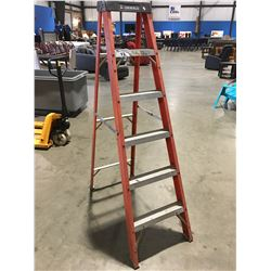 6' FEATHERLITE ALUMINUM & FIBERGLASS STEP LADDER