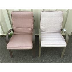 PAIR OF ALUMINUM FRAMED OUTDOOR PATIO CHAIRS