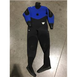 TRITON SCUBA DIVING DRY SUITE BLUE & BLACK