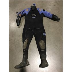 BARE SCUBA DIVING DRY SUITE BLUE & BLACK