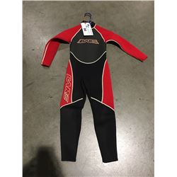 BARE 1 PCE WETSUIT RED & BLACK JUNIOR SIZE 8