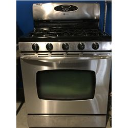 MAYTAG STAINLESS STEEL NATURAL GAS STOVE