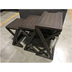 3 PCE CONTEMPORARY NESTING TABLE SET