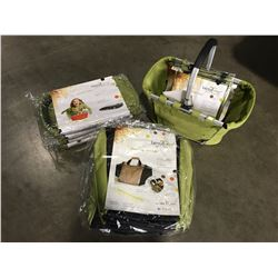 GROUP OF 15 TAZZY TOTES ECO FRIENDLY REUSABLE BAGS - 5 MARKET TOTES/5 BOTTLE TOTES/5 SHOPPING