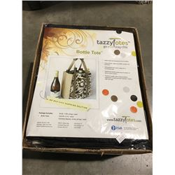 1 CASE OF 10 TAZZY TOTES ECO FRIENDLY BOTTLE TOTES (BLACK)