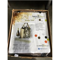 1 CASE OF 10 TAZZY TOTES ECO FRIENDLY BOTTLE TOTES (BROWN)