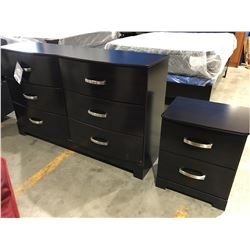 2 PCE  DRESSER & NIGHT STAND SET (6 DRAWER DRESSER & 2 DRAWER NIGHT STAND)