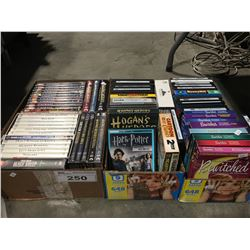 3 BOXES OF ASSTD DVD MOVIES & VINTAGE TV SERIES PROGRAMS