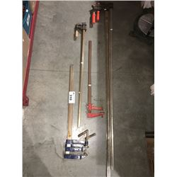 GROUP OF 7 FURNITURE BAR CLAMPS