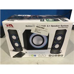 CYBER ACOUSTICS BLUETOOTH 2.1 SPEAKER SYSTEM WITH SUB-WOOFER