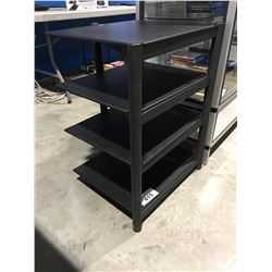 4 SHELF STEREO COMPONENT STAND