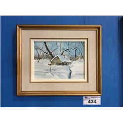 """FRAMED ORIGINAL OIL ON BOARD PAINTING UNSIGNED 16"""" X 19"""""""