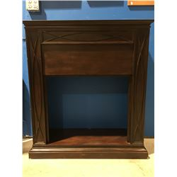 MAHOGANY FINISH ELECTRIC FIREPLACE MANTEL