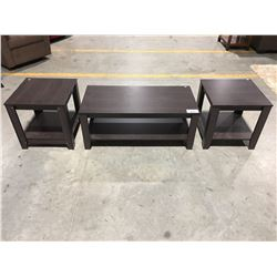 3 PC CONTEMPORARY COFFEE & END TABLE SET