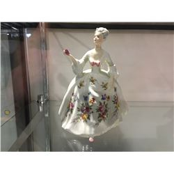 ROYAL DOULTON ENGLAND BONE CHINA FIGURINE - DIANA MODELED BY PEGGY DAVIS 1985 -HN2468