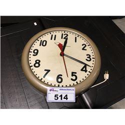 VINTAGE INGRAHAM ELECTRIC WALL CLOCK