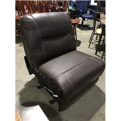 1 RECLINER SECTION FROM BROWN LEATHER SECTIONAL SOFA