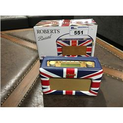 ROBERTS REVIVAL UNION JACK AM/FM DIGITAL RADIO WITH AUXILIARY INPUT