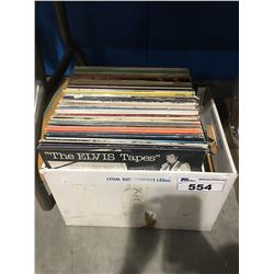 BOX OF ASSTD VINTAGE RECORDS
