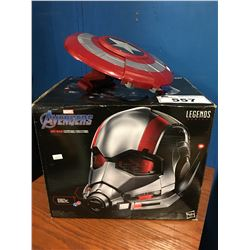 MARVEL AVENGERS ANTMAN ELECTRONIC HELMET & CAPTAIN AMERICA SHIELD
