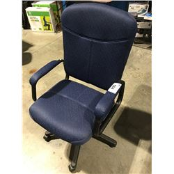 BLUE & BLACK OFFICE CHAIR