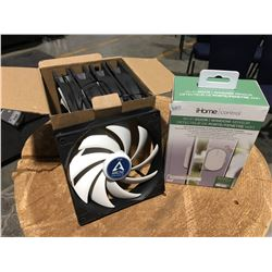 BOX OF 5 COMPUTER REPLACEMENT FANS & WIFI DOOR/WINDOW SENSOR