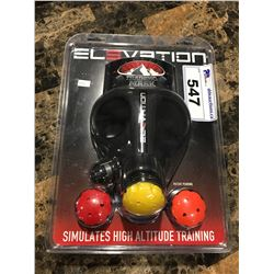 ELEVATION FITNESS ACCESSORY TRAINING MASK - SIMULATES HIGH ALTITUDE TRAINING