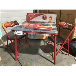 DISNEY PIXAR CARS TABLE & CHAIR SET