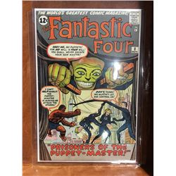 FANTASTIC FOUR #8 (1962) 1ST APP PUPPET-MASTER & ALICIA MASTERS. LOWER TO MID GRADE - COMPLETE