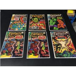 FANTASTIC FOUR KEYS LOT OF 6 ISSUES (1966-70) INCLUDES #49 (1ST FULL APP GALACTUS) INCOMPLETE -