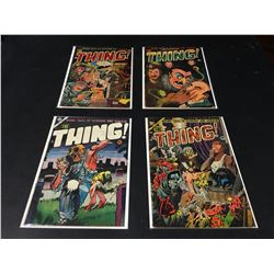 THE THING! GOLDEN AGE LOT OF 4 ISSUES (1950'S) LOT INCLUDES #7, 8, 11 (LOW GRADE AVERAGE) & #16