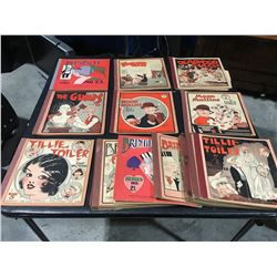 PLATINUM AGE COMICS LOT OF 19 ISSUES (1920'S-30'S) BRINGING UP FATHER, MUTT & JEFF ETC. LOWER GRADE