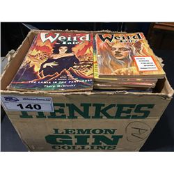 WEIRD TALES PULPS BOX LOT (1940'S-50'S) LOW GRADE AVERAGE (SEVERAL MISSING BACK COVERS) APPROX 50